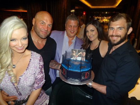 Dinner At Andiamo With Randy Couture Ryan Couture Emily Couture Mindy Robinson With Owner Derek Stevens Randy Couture
