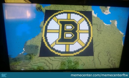 Got Bored In Minecraft So Made The Logo From My Favorite Team Go Bruins Logo