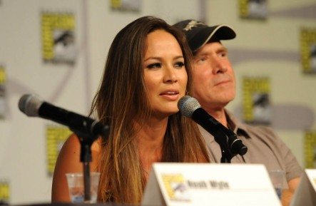 Moon Bloodgood Falling Skies Panel Comic Con July Falling Skies Moon Bloodgood