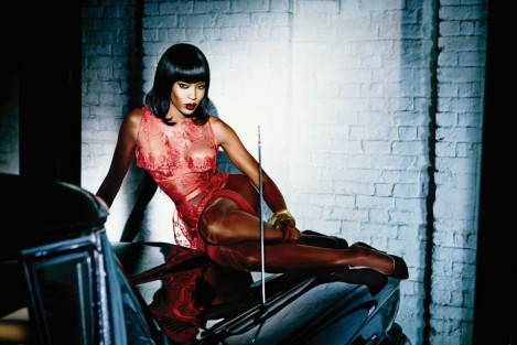 Fashion Naomi Campbell Agent Provocateur Lingerie Campaign Red Lace Main Naomi Campbell