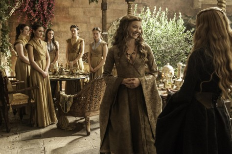Natalie Dormer As Margaery Tyrell And Lena Headey As Cersei Lannister Photo Helen Sloan Hbo Game Of Thrones Gif