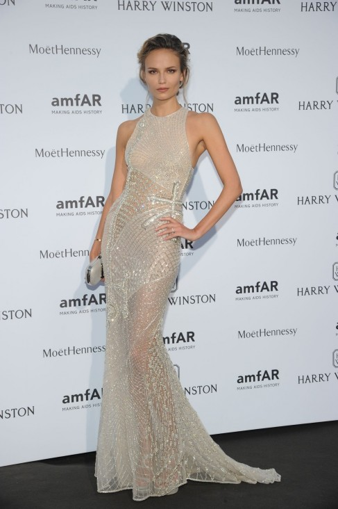 Natasha Poly Amfar Dinner At The Pavillon Ledoyen Paris Fashion Week Haute Couture July Natasha Poly