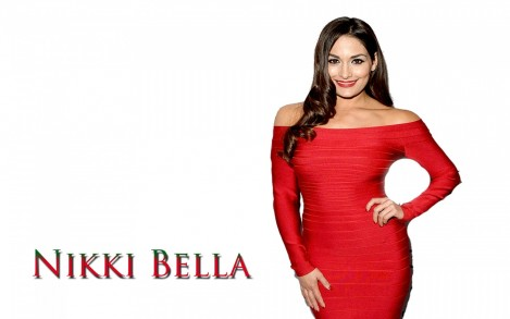 Nikki Bella Red Dress Hd Wallpaper Nikki Bella