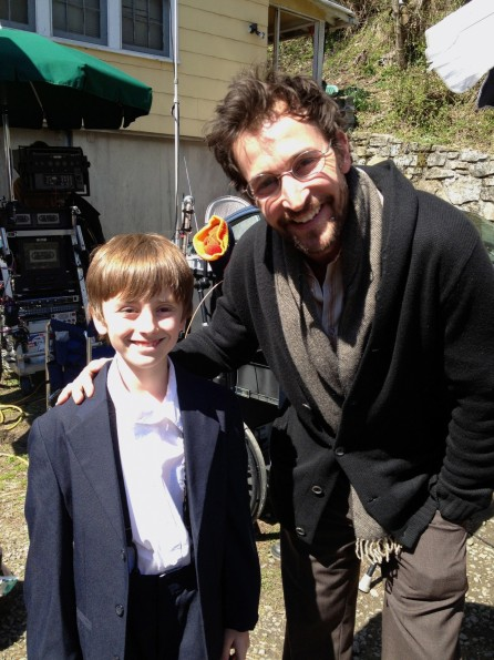 Harp Sandman With Noah Wyle On The Set Of The World Made Straight Noah Wyle