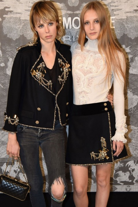 Edie And Olympia Campbell At The Chanel Mademoiselle Prive Exhibition Opening Olympia Campbell