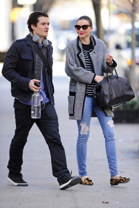 Fabulous Looks Of The Day December Th Orlando Bloom Miranda Kerr Upper East Side New York Orlando Bloom