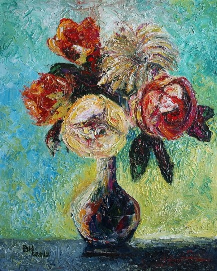 Famous Paintings Of Flowers By Famous Artists Kodyart Flower Paintings Oil Paintings On Canvas Famous Famous