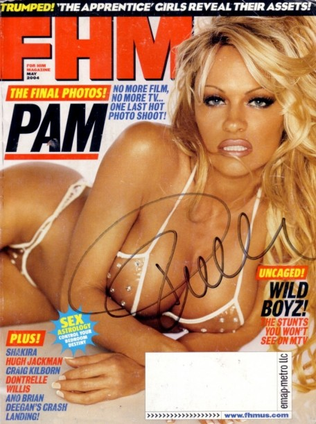 Pamela Anderson Autographed May Fhm Magazine Tv