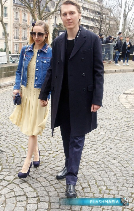 Paul Dano Zoe Kazan Outside Miu Miu Paris Fashion Week France March Paul Dano