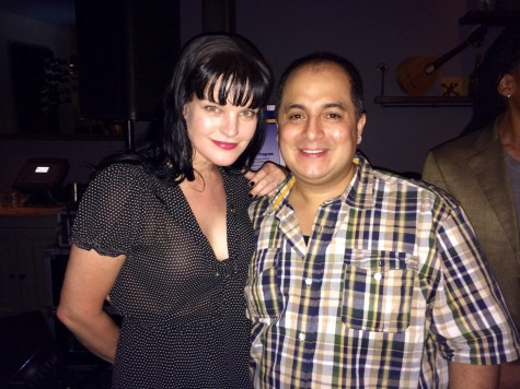 Steven Escobar With Ncis Star Pauley Perrette Pauley Perrette