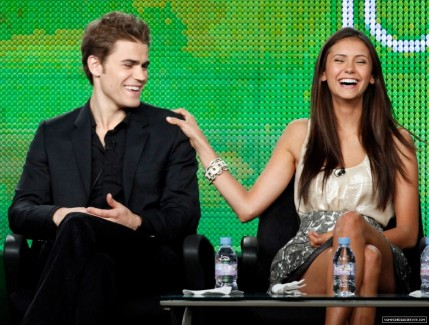 Paul And Nina Paul Wesley And Nina Dobrev And Nina Dobrev