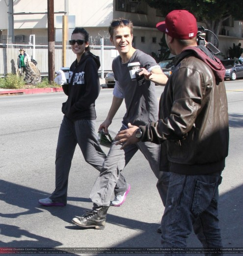 Paul Wesley Torrey Devitto More Pics From Valentine Day The Vampire Diaries Tv Show Tv