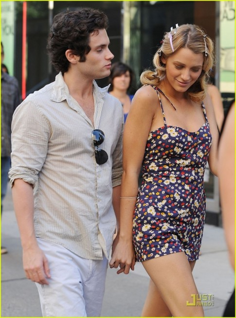 Blake Lively Penn Badgley Empire Hotel Penn Badgley