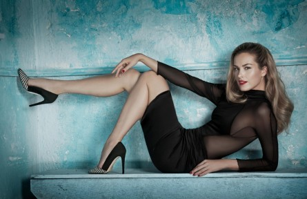 Petra Nemcova Blonde Legs Women Pumps High Heels Petra Nemcova