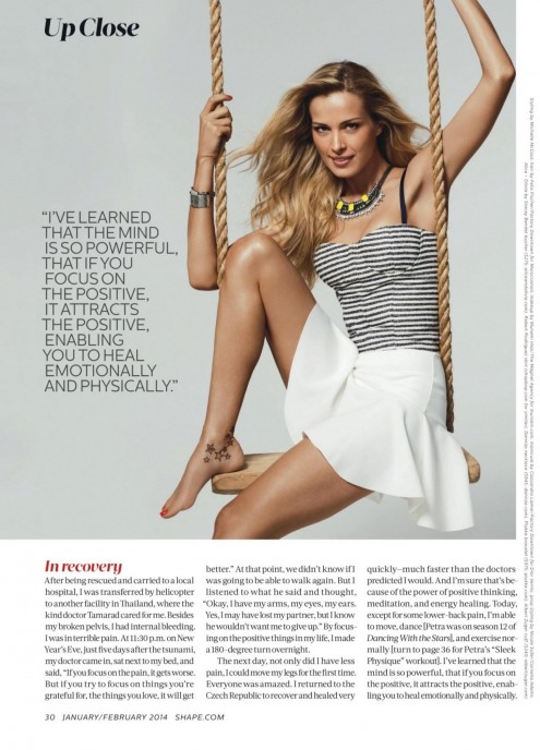 Petra Nemcova Shape Magazine January February Issue Petra Nemcova