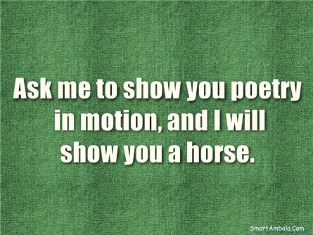 Ask Me To Show You Poetry In Motion And Will Show You Horse Poetry In Motion