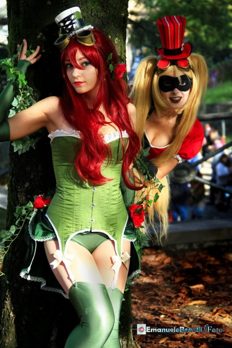 Poison Ivy And Harley Quinn Steampunk Ver By Flying Freedom Kt Poison Ivy