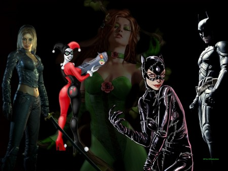 Poison Ivy Catwoman Talia Al Ghul And Harley Quinn Femme Fatales Poison Ivy