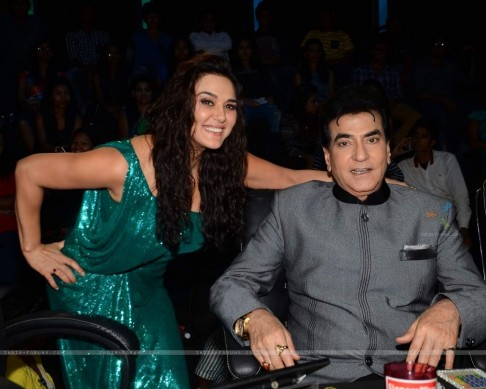 Jeetendra And Preity Zinta On The Sets Of Nach Baliye Husband Wedding