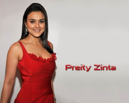World Famous Bollywood Actress Preity Zinta Beautiful Wallpaper