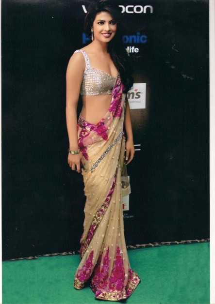 Priyanka Chopra Semi Georgette Saree