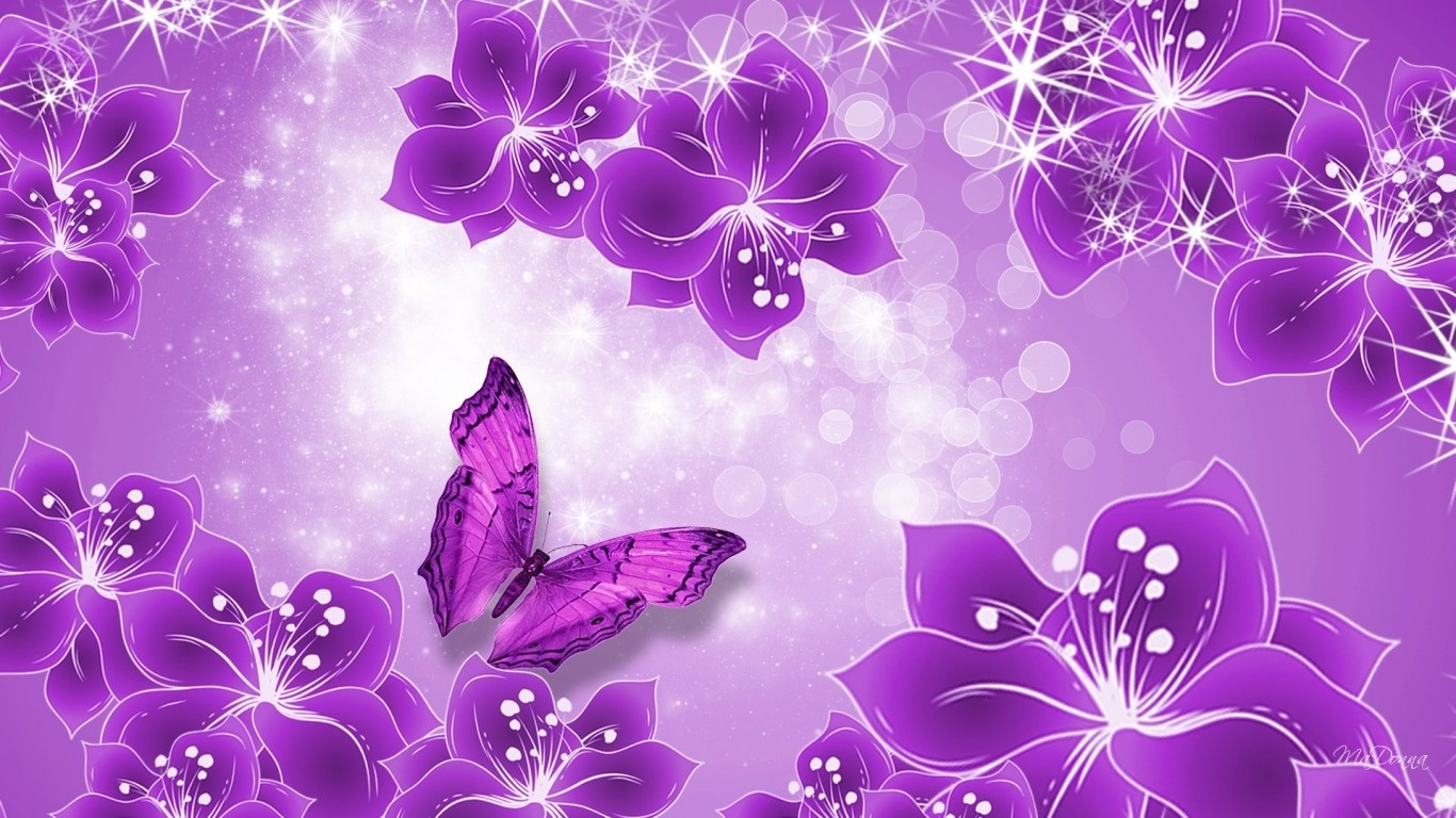 Purple Butterfly Hd Wallpaper Movie