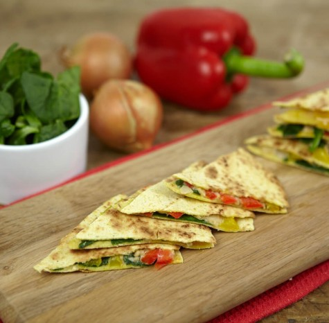 Caramelized Onion And Pepper Quesadillas Vert Quesadilla