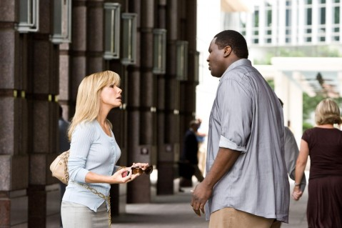 Sandra Bullock And Quinton Aaron In The Blind Side Large Picture Quinton Aaron