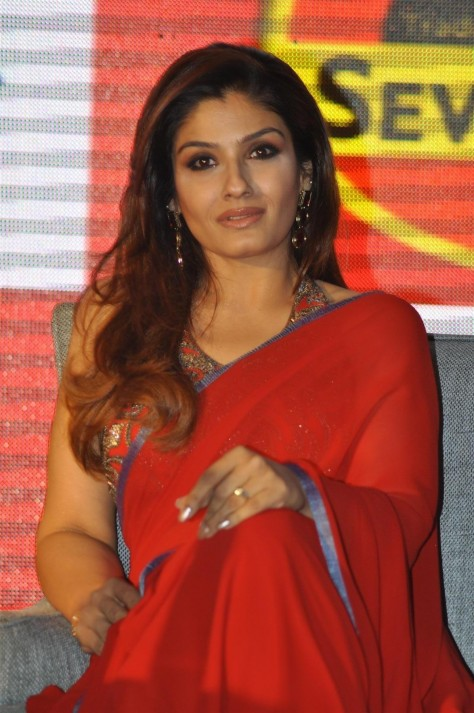 Wwlq Dq Yvcadvd Brand Ambassador Raveena Tandon At Press Meet To Announce The Arrival Of Merck Ltd In Indian Market With Sevenseas Original In Mumbai