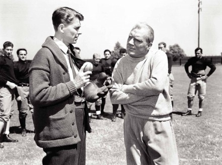 Still Of Ronald Reagan And Pat Obrien In Knute Rockne All American Large Picture Movie