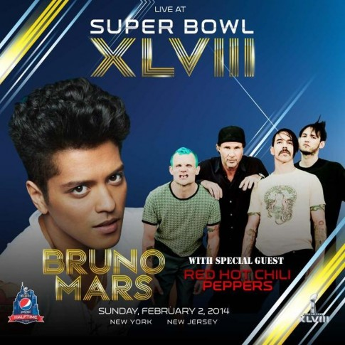 Photo Red Hot Chili Peppers Live Au Superbowl Avec Bruno Mars Ff