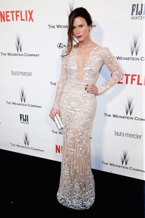 Rhona Mitra Coming To The Weinstein Company Netflix Golden Globes Party In Beverly Hills