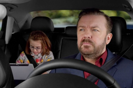 Ricky Gervais Audi Spot Screen Grab