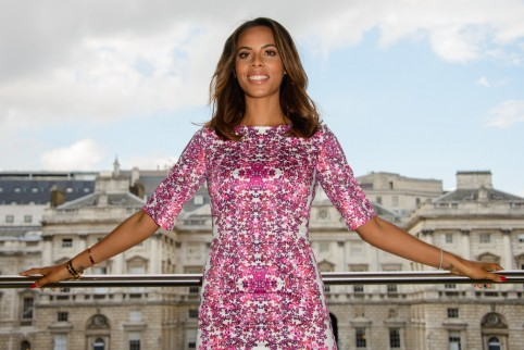 Wpid Fashion Ladies Dress Rochelle Humes Bodycon Dress With Halter Neck Rochelle Humes