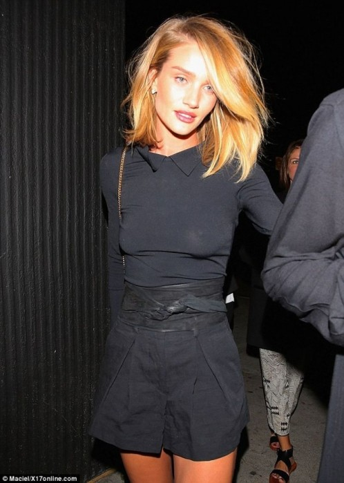 Rosie Huntington Whiteley Went Night Out At The Nice Guy Nightclub On April In West Hollywood