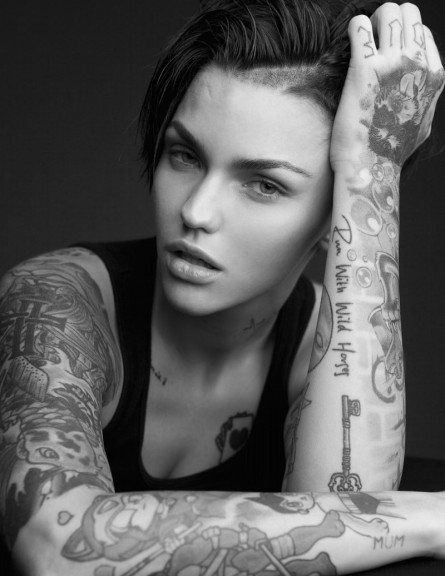 Black White Ruby Rose Pictures Min Ruby Rose