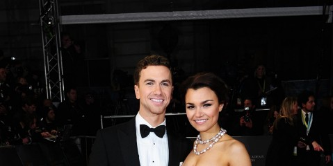 Lan Ape Showbiz Richard Fleeshman Samantha Barks Baftas Red Carpet Richard Fleeshman