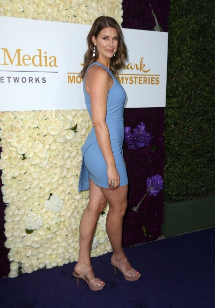 Sarah Lancaster Attends The Hallmark Channel Summer Tca Tour In Beverly Hills The Judge