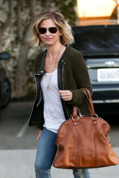 Sarah Michelle Gellar Was Spotted While Going From Andy Lecompte Salon In West Hollywood