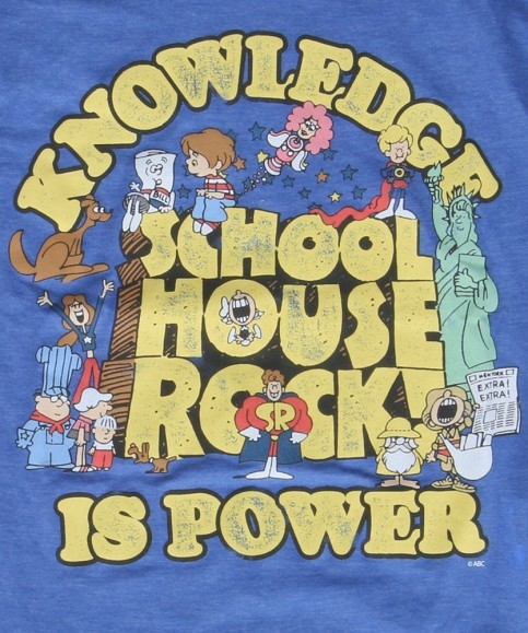 Schoolhouse Rock Knowledge Is Power Shirt Logo Schoolhouse Rock