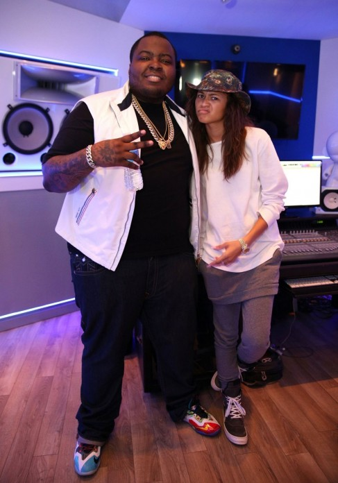 Zendaya And Sean Kingston At Recording Studio November Sean Kingston