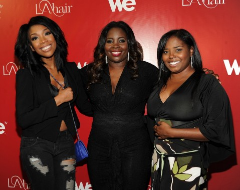 Brandy Kim Kimble And Shar Jackson At We Tvs La Hair Season Premiere Party Shar Jackson