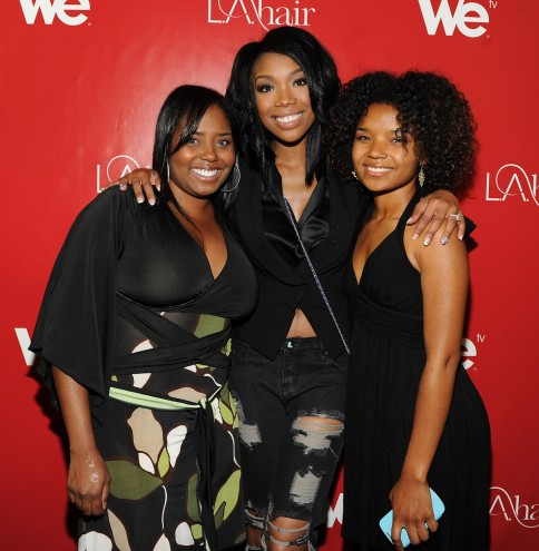 Shar Jackson Brandy And Cassie Jackson Reality At We Tvs La Hair Season Premiere Party Shar Jackson
