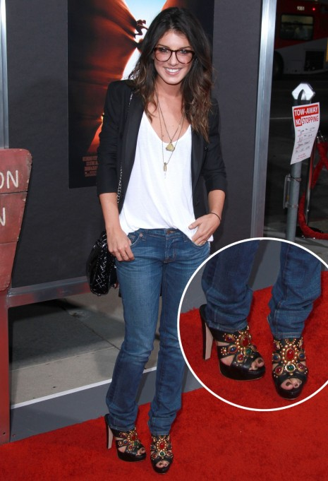 Shenae Grimes Jeweled Platforms