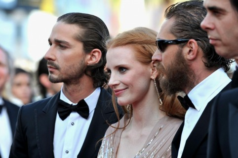 Nick Cave Tom Hardy Shia Labeouf And Jessica Chastain At Event Of Lawless Large Picture Movies