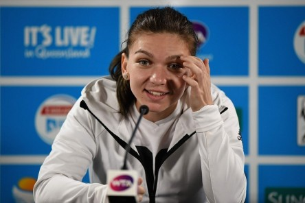Simona Halep At Press Conference At Brisbane International Simona Halep