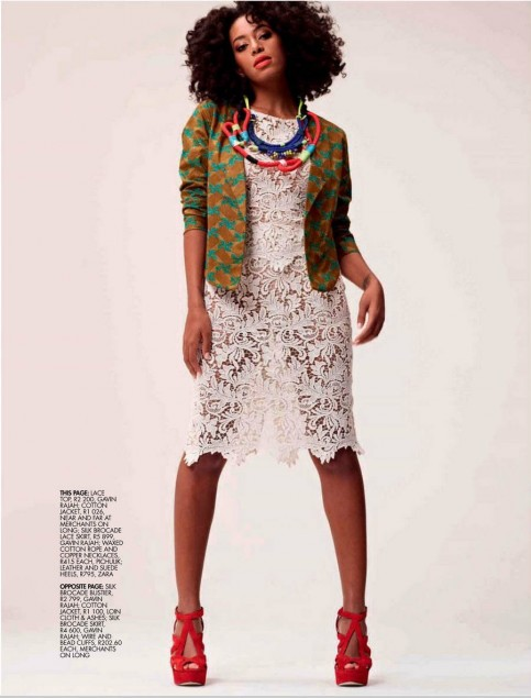 Solange Knowles Elle South Africa Solange Knowles