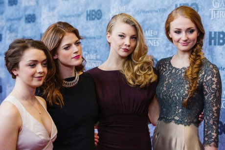 Maisie Williams Rose Leslie Natalie Dormer Sophie Turner Actress Game Of Thrones Game Of Thrones