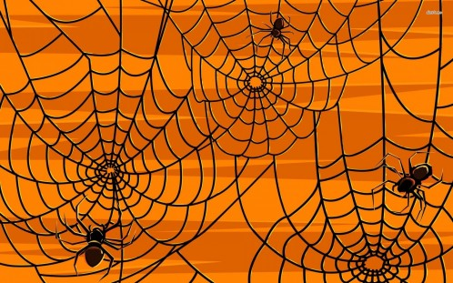 Spiders And Webs Vector Wallpaper Spiders