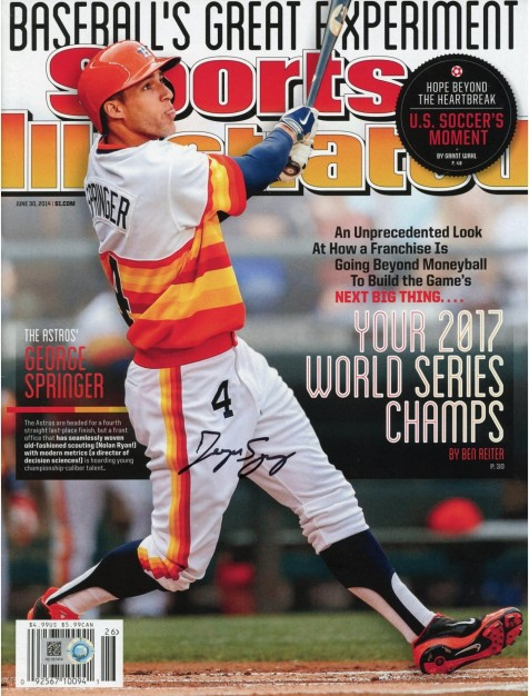 George Springer Houston Astros Autographed Your World Series Champs Sports Illustrated Magazine Sports Illustrated